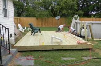 Above Ground Pool Deck Ideas Original