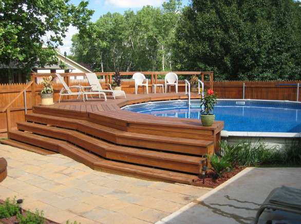 Above Ground Pools Decks Pool Design Ideas