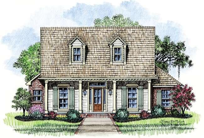 Acadian Cottage Plans Unique House