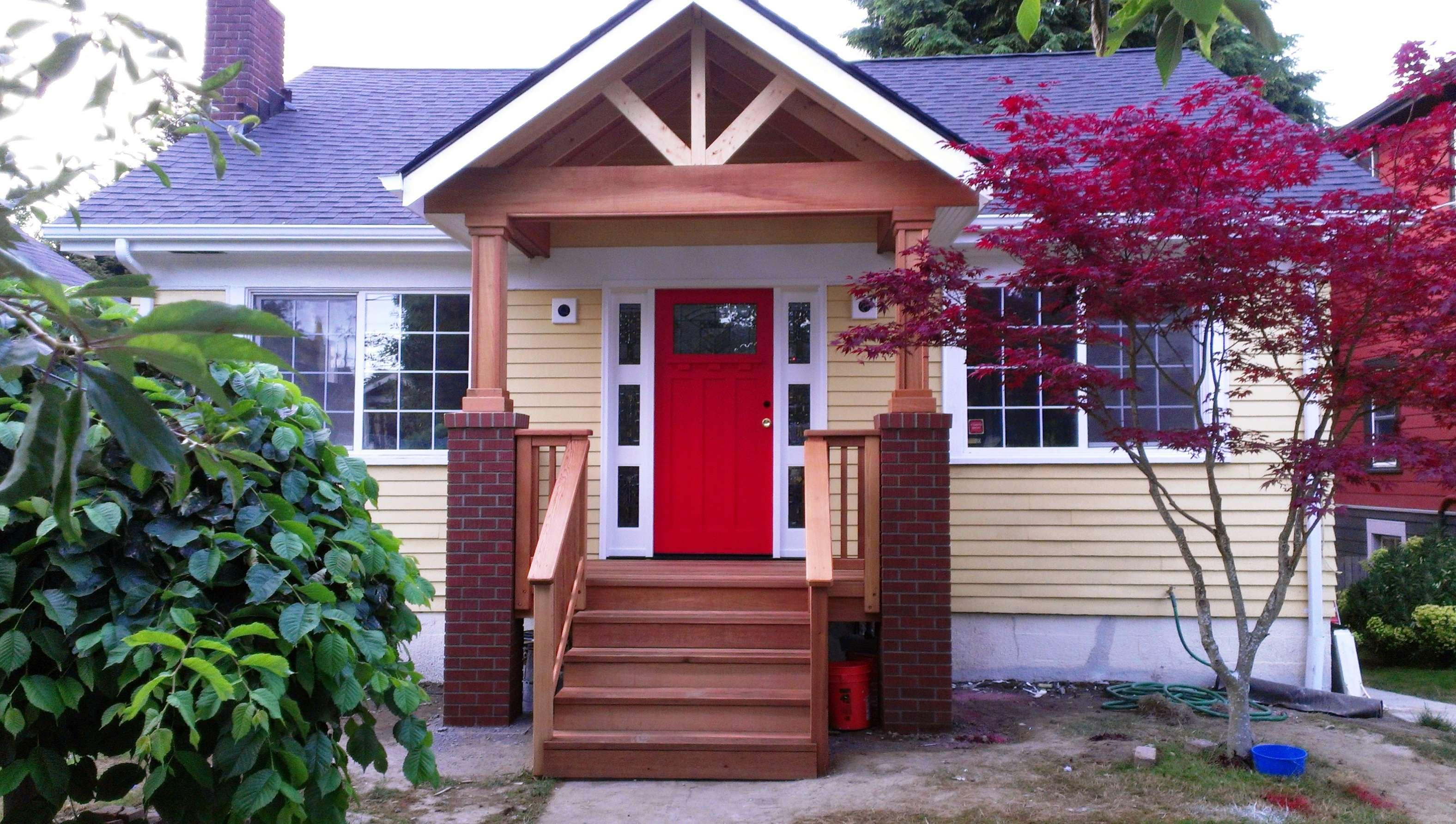 Adding Porch Brick House Home Design Ideas