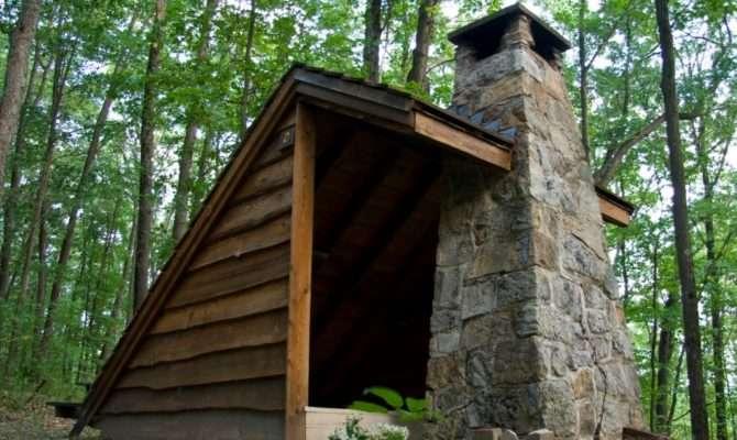 Adirondack Shelters Fireplaces Lean