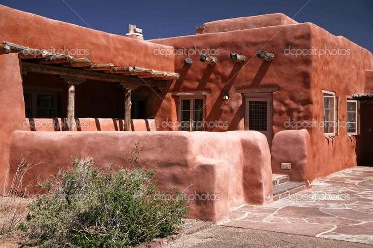Adobe House Pueblo Houses Pinterest