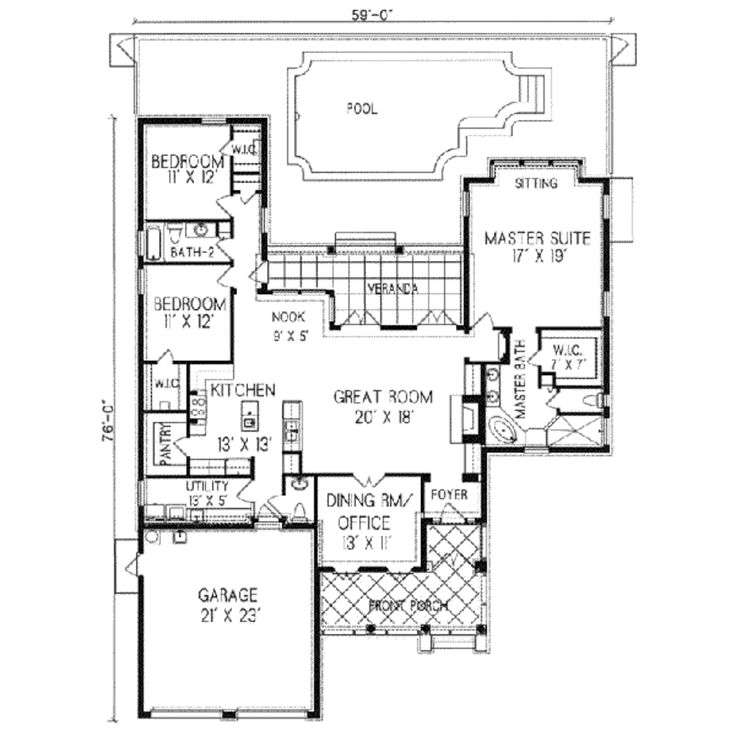 Adobe Style Home Plans House