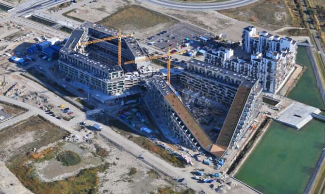 Aerial Construction House Bjarke Ingels Group Big
