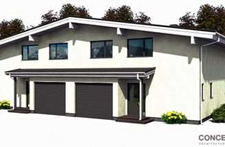 Affordable Home Plans Economical Duplex Plan