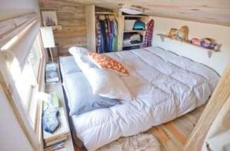 Alek Lefski Tiny House Loft Via