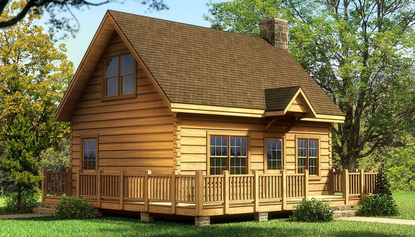 Alpine Log Home Cabin Plans