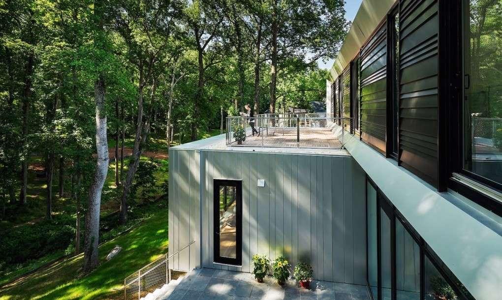 Aluminum Clad Bridge House Multi Generational Home Optimized