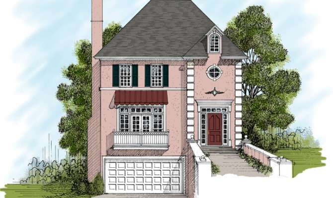 Amazing Story House Plans Narrow Lot Building