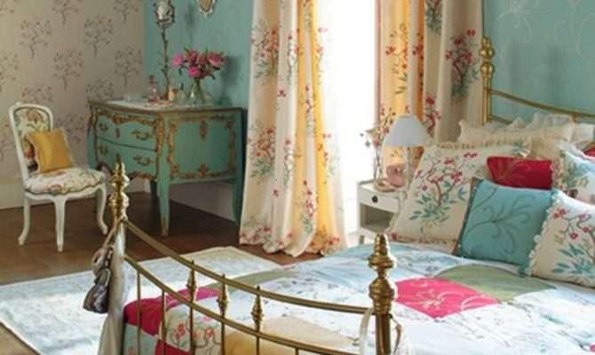 American Interior Design Bed Bedroom Bedrooms Country