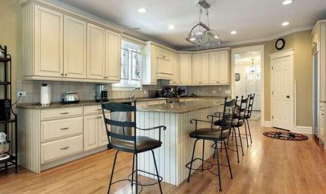 Antique White Open Kitchen Floor Plans Country Design