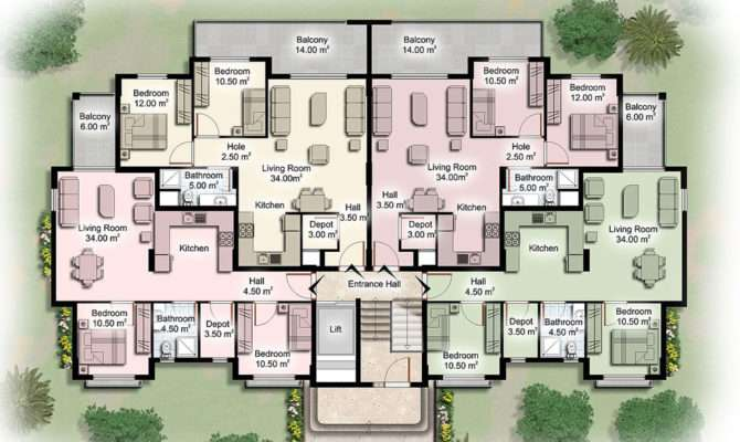 Apartment Building Plans Modern