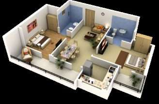 Apartment Floor Plans Bedroom Den