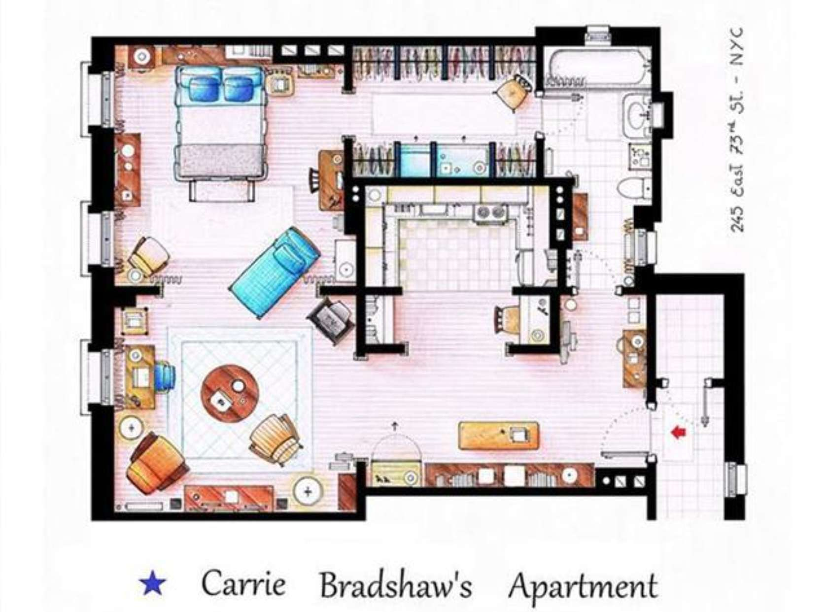 Apartment Floor Plans Fictional Nyc Pads Architizer