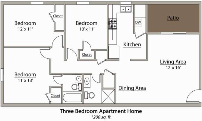 Apartments Floor Plans Bedrooms Apartment Bedroom