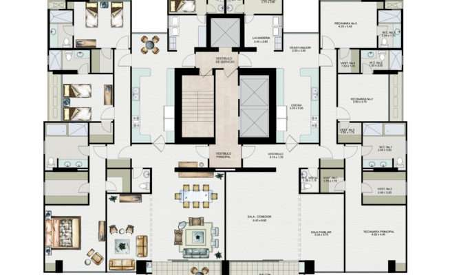 Apartments Interior Magnificent Apartment Plan Layout