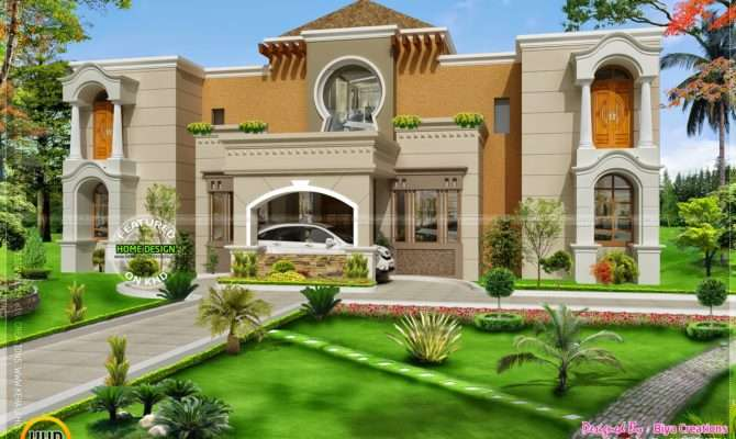 Arab Style Home India Kerala Design Floor Plans