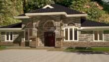 Arch Porch Bungalow House Plan David Chola Architect