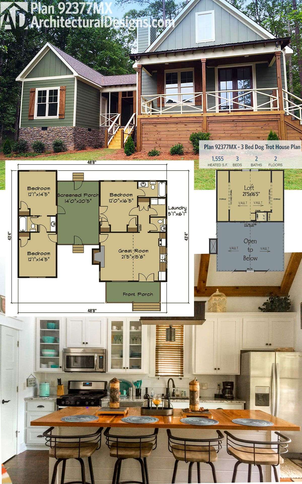 Architectural Designs Dog Trot House Plan Gives
