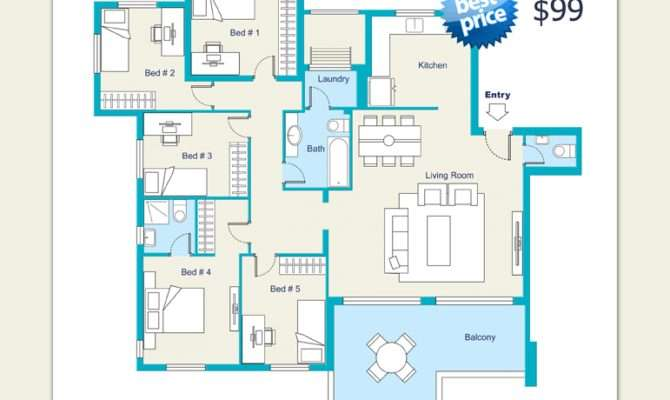 Architectural Floor Plans Rendering Sample