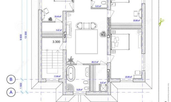 Architectural Plan Floor House Illustration