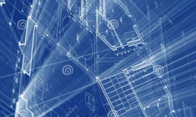 Architecture Blueprint Illustration