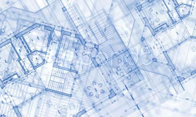 Architecture Blueprint Plan Video Clip Pond