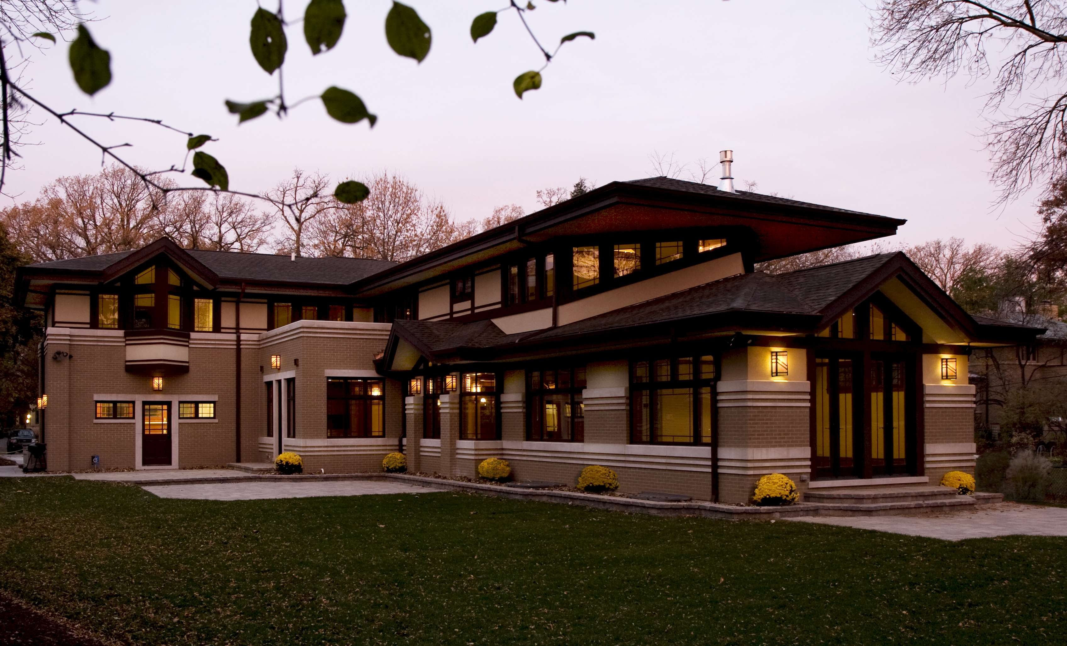 Architecture Frank Lloyd Wright Style Home Studio