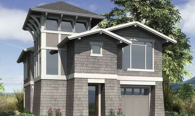 Architecture Interior Coastal Home Plan Gray
