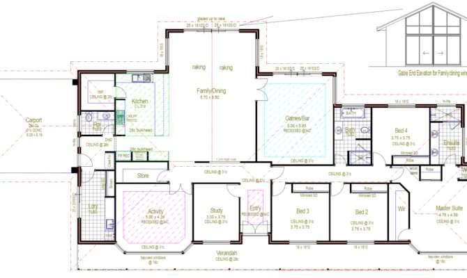 Architecture Rectangular House Floor Plans