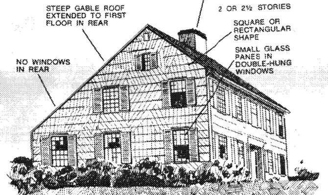 Around Salt Box Homes Were Built Well Through Mid