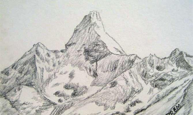 Art Prem Simple Sketches Mountains
