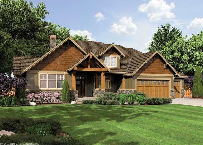 Ashby Lodge Style Craftsman Home Plan