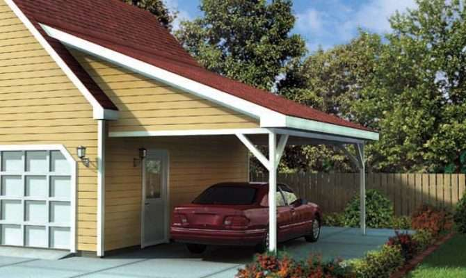 Attached Car Garage Home Plan Floor Plans
