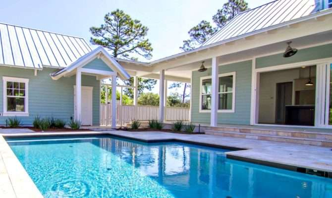 Attachment Shaped House Plans Pool