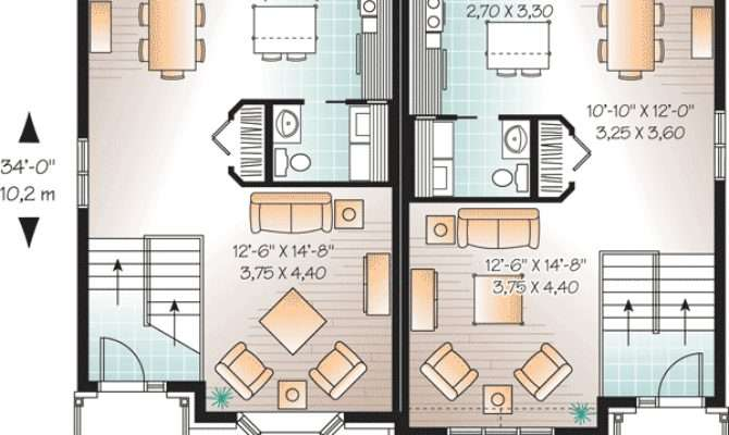 Attractive Two House Plan Architectural