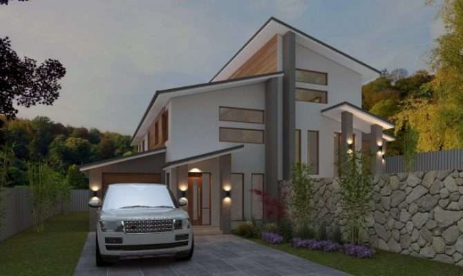 Australian Duplex Townhouse House Plans Split Level Sloping