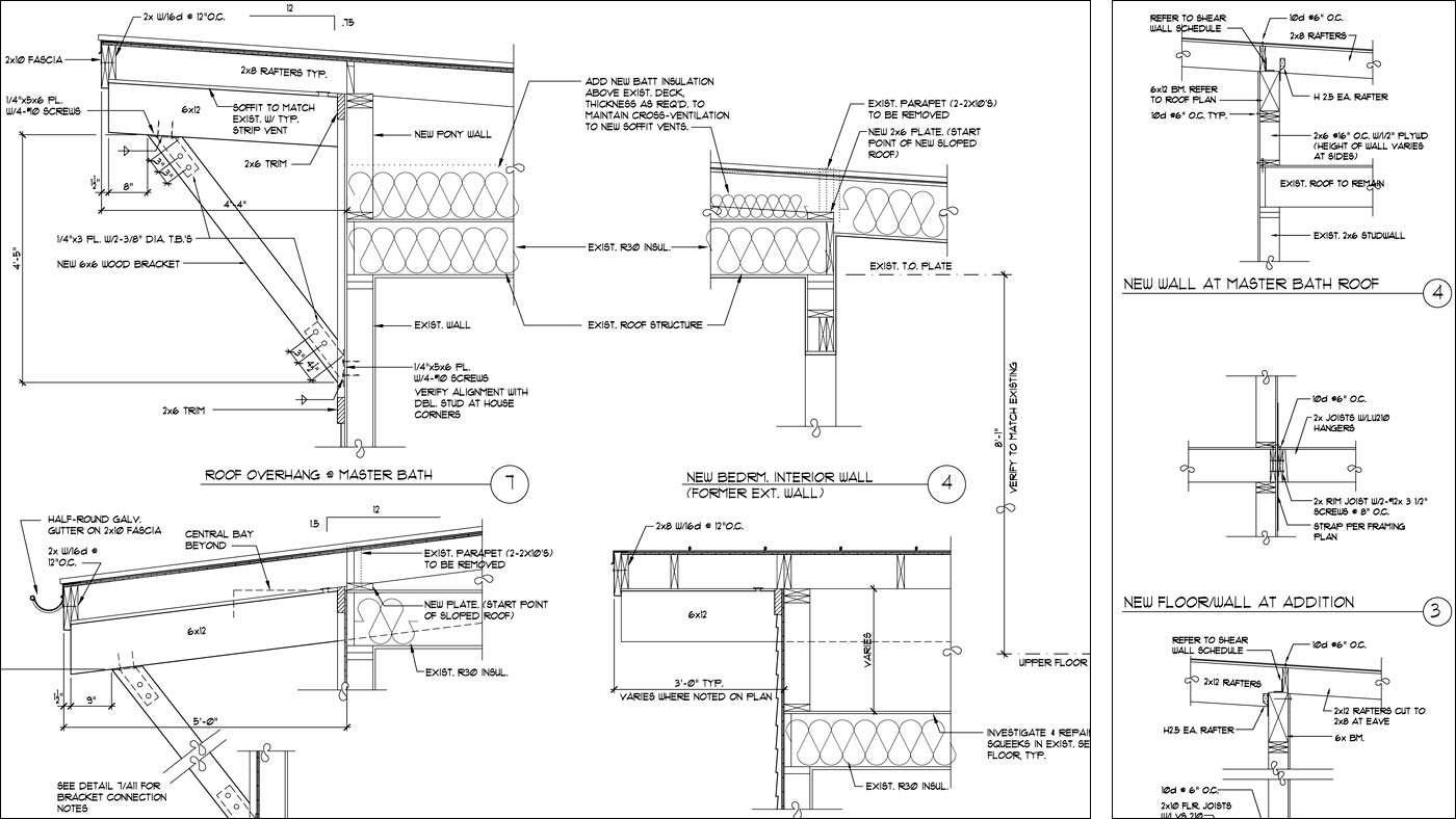 Auto Cad Architectural Engineering Detail Construction Drawings