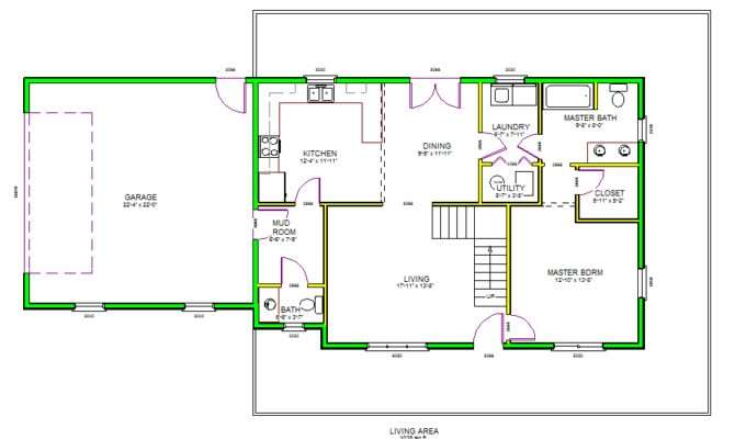 Autocad House Plans Floor