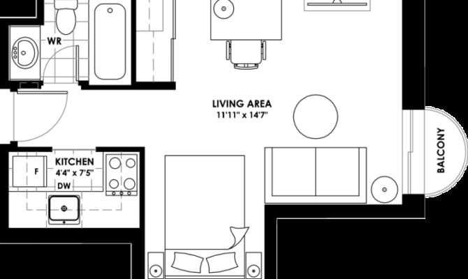 Awesome Bachelor Apartment Floor Plan