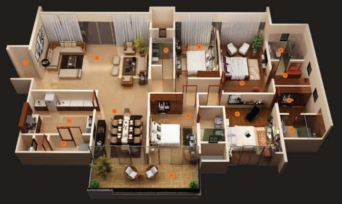 Awesome Bedroom House Plans Twuzzer