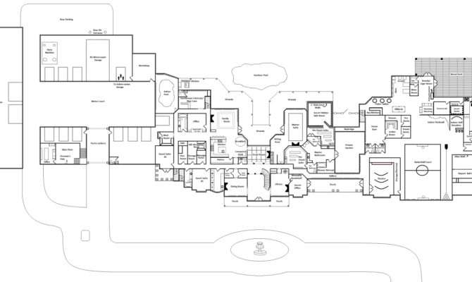 Awesome Mansion Home Plans Luxury Mega Floor