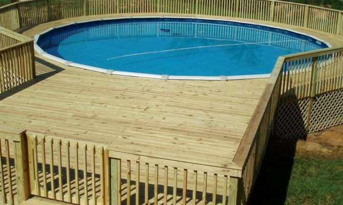 Awesome Plans Above Ground Pool Decks