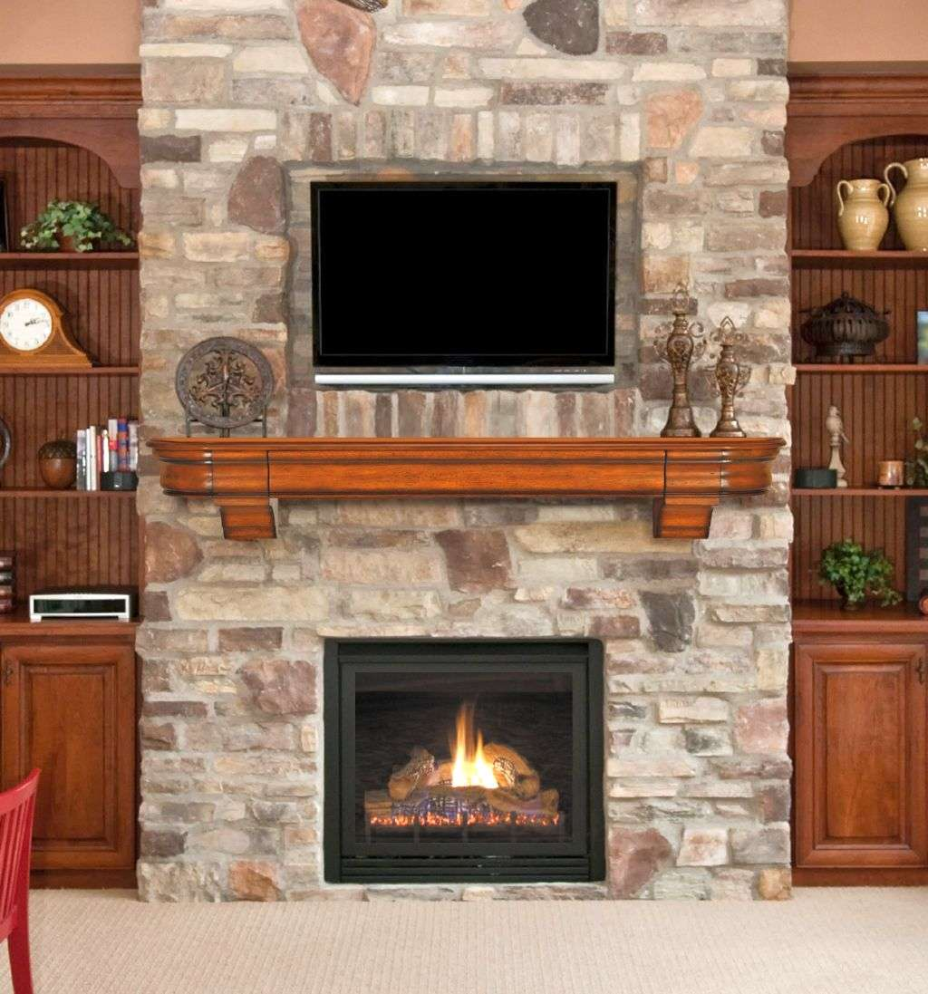 Awesome Stacked Stone Fireplace Designs