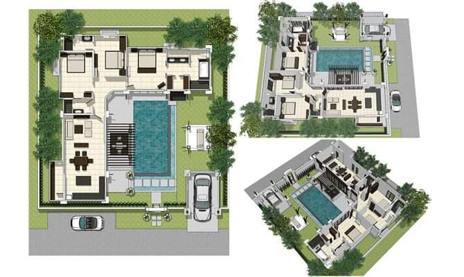 Awesome Villa Layout Plan Building Plans