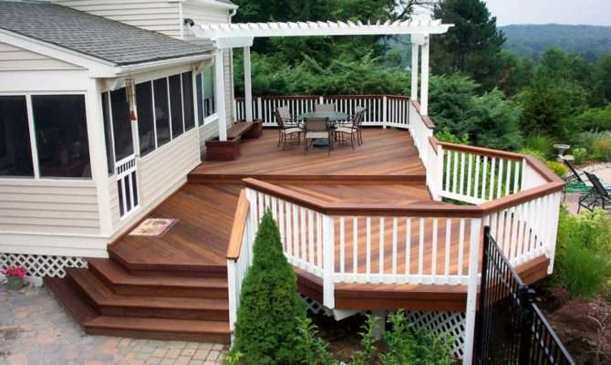 Back Deck Ideas Easy Backyard Small