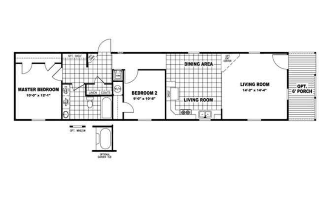 Back Modern Shotgun House Floor Plan