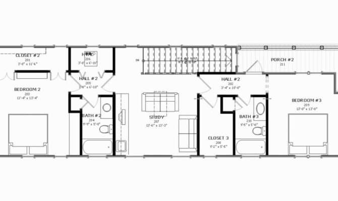 Back Shotgun House Plans