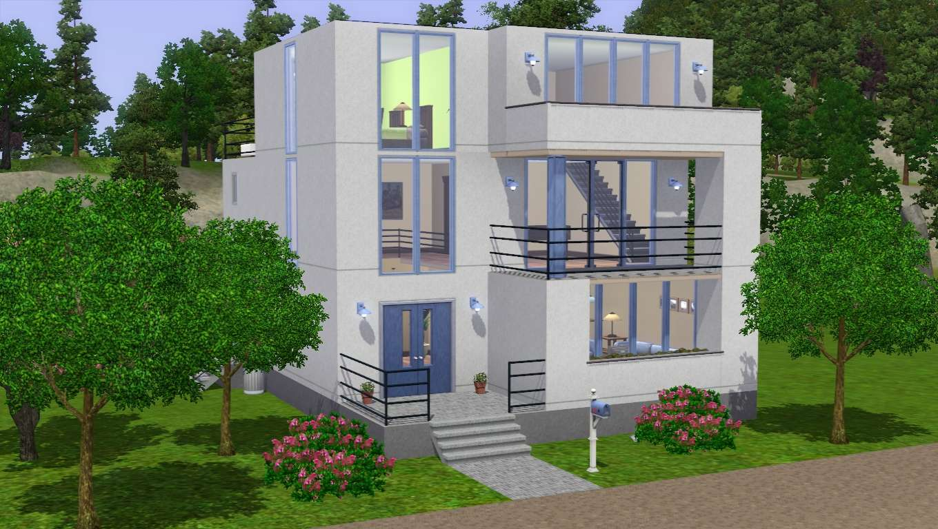 Back Sims House Floor Plans Modern