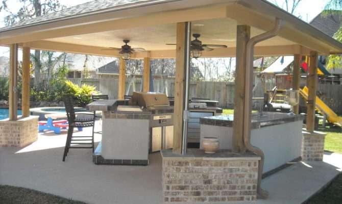 Backyard Projects Traditional Pool Houston